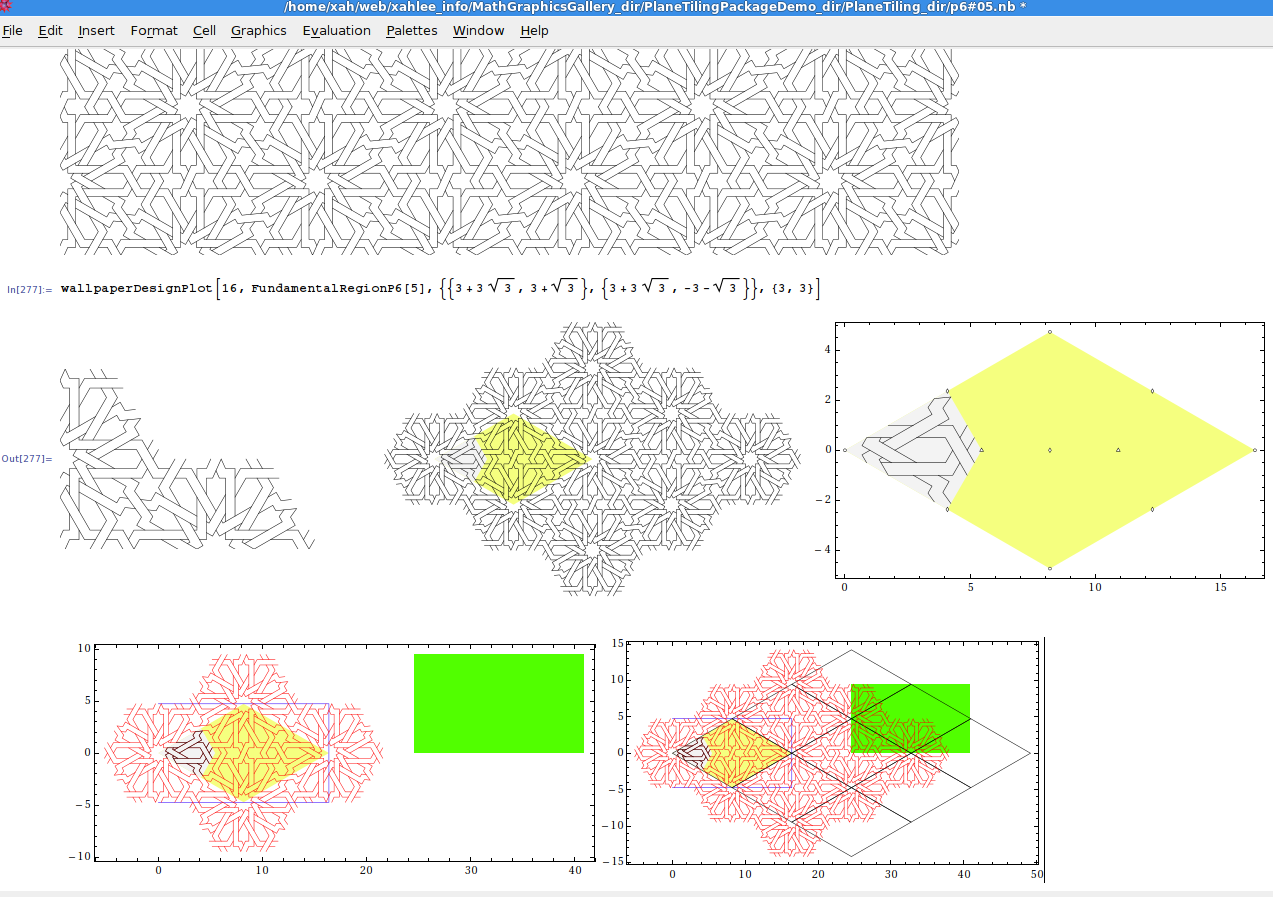Geometry plane tiling mathematica package ccuart Gallery