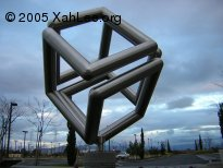 SGI logo sculpture