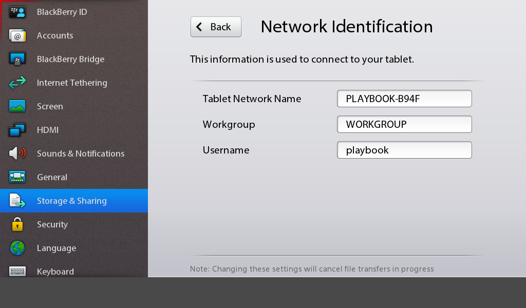 BlackBerry PlayBook: Force Reset, Security Wipe, Connect to