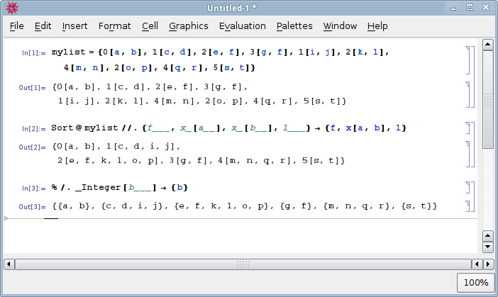 Mathematica pattern matching