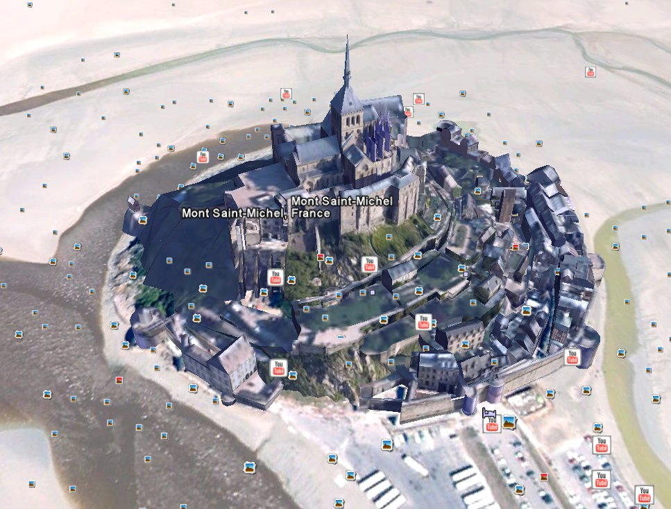 Mont Saint-Michel abbey Google Earth