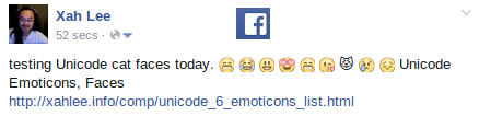 Cat Emoticon Facebook Comment