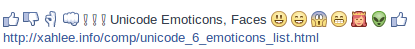 emoticon thumb facebook