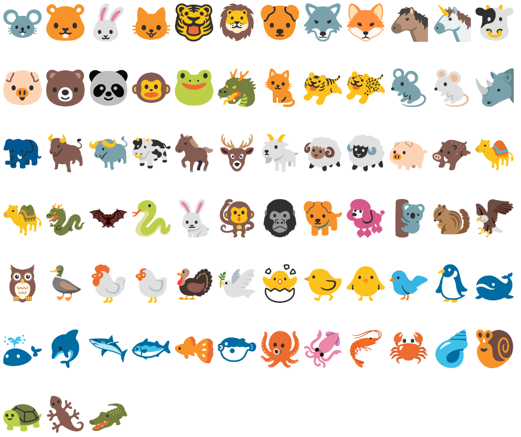 Animal emoji unicode animals noto color emoji 2017 03 02 biocorpaavc Gallery