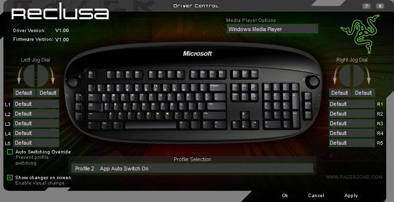 Microsoft Reclusa Gaming Keyboard