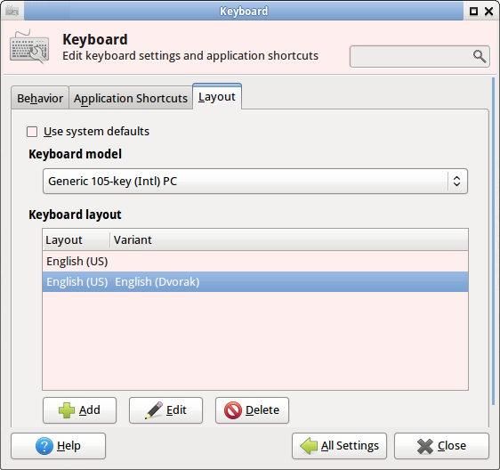 linux how to switch to dvorak keyboard layout. Black Bedroom Furniture Sets. Home Design Ideas