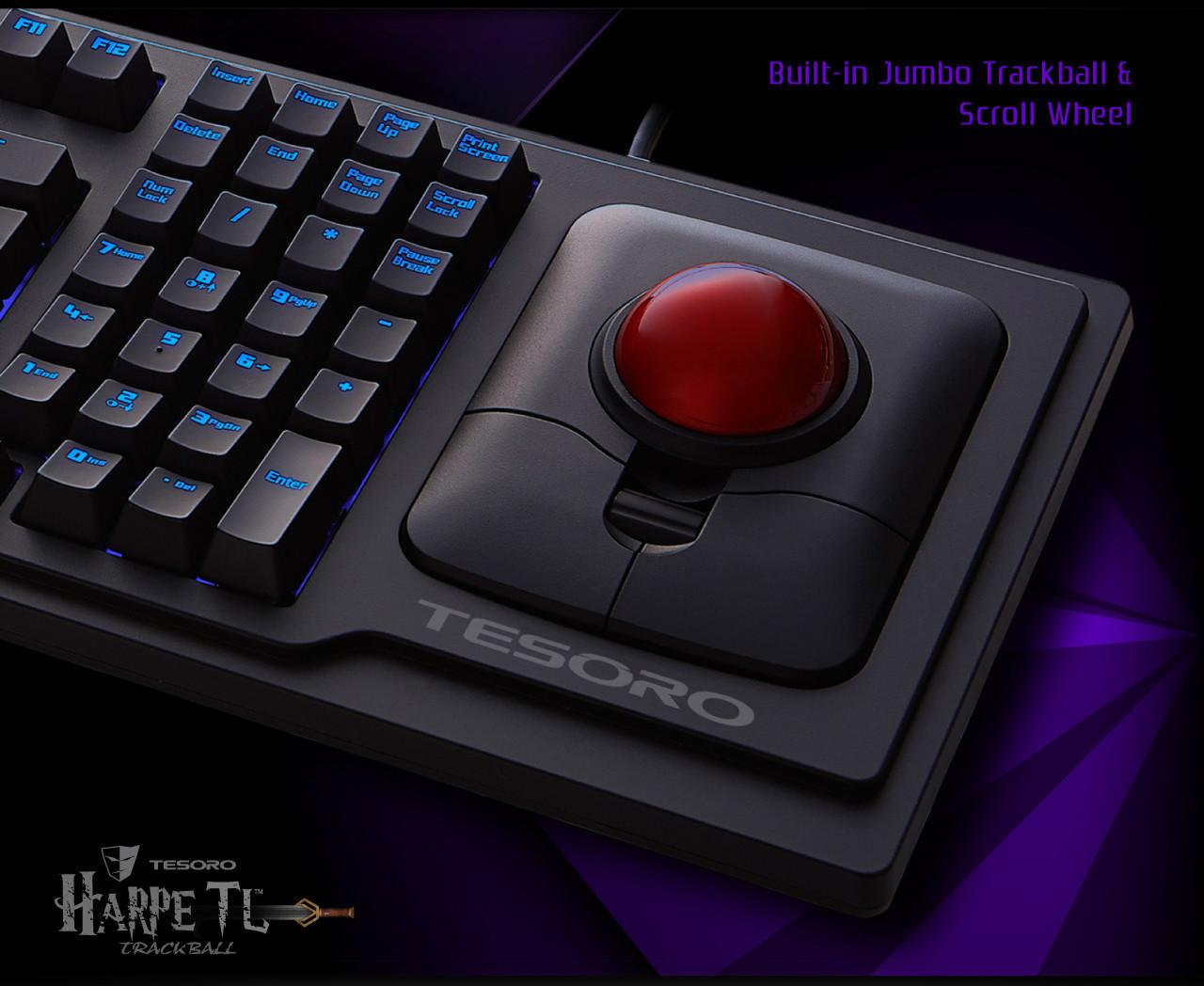 Tesoro G6TL Keyboard with Trackball