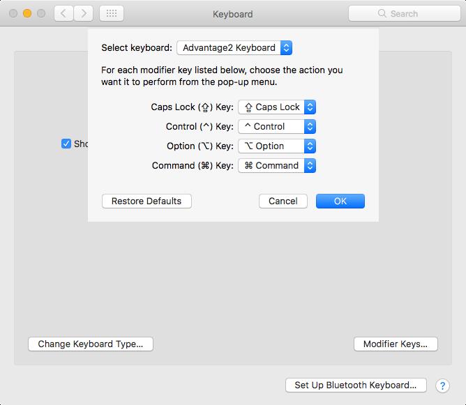 Mac: Swap Control, Caps Lock, Option, Command Keys