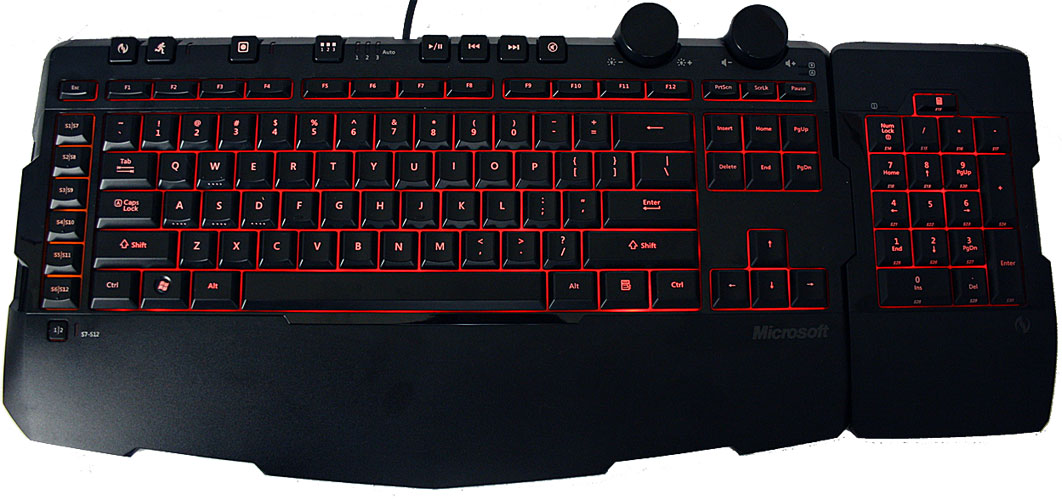 MS Sidewinder x6 gaming keyboard