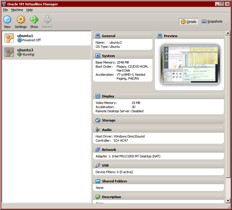 Oracle VM VirtualBox Manager screenshot 2012-10-14