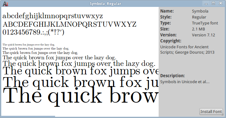 Linux: How to Install Font, List Fonts