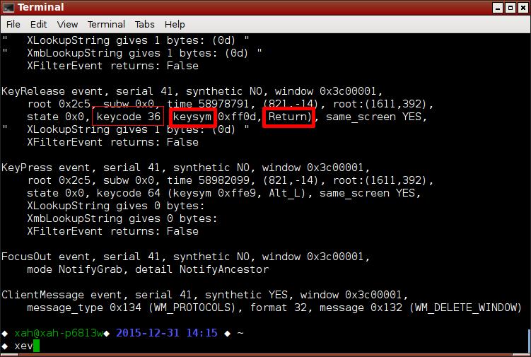 Linux: X11 Keyboard Key Names