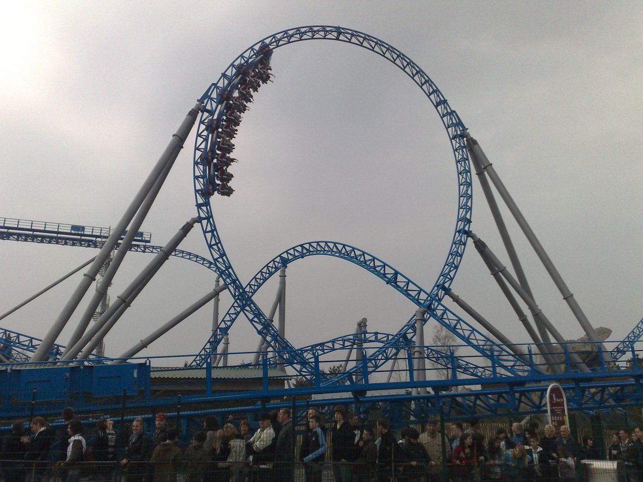 Blue Fire roller coaster-s