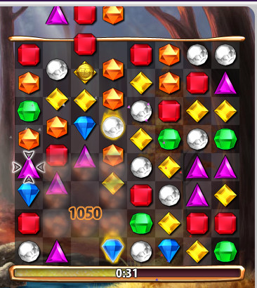bejeweled flame gem explode