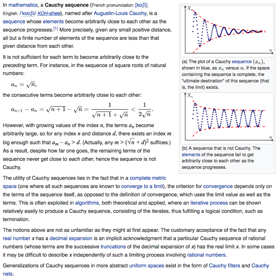 Cauchy Sequence Defines Calculus And Complete Metric Space