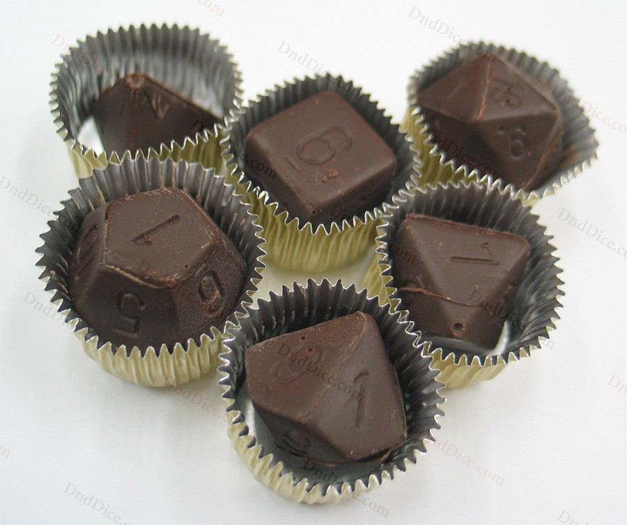 polyhedron chocolate dice