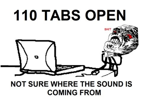 110 tabs open in web browser