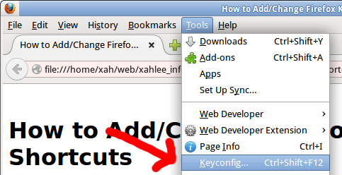 How to Add/Change Firefox Keyboard Shortcuts