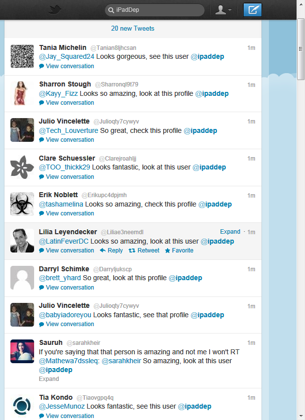twitter coversation spam ipaddep 2012-03-24